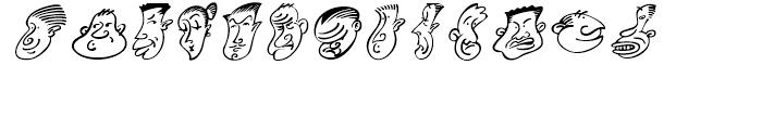 Mini Pics Head Buddies Regular Font LOWERCASE