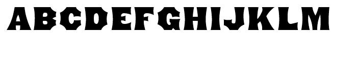 Minnesota Regular Font UPPERCASE