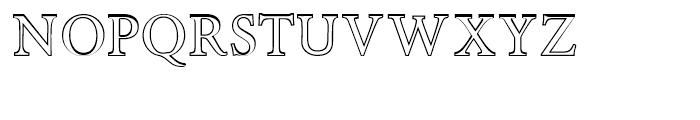 Minutia Outline Font UPPERCASE