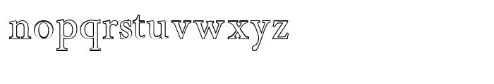 Minutia Outline Font LOWERCASE