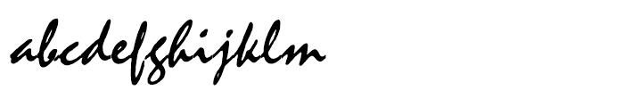 Mistral Regular Font LOWERCASE