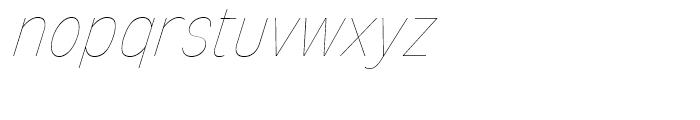 Mixolydian UltraLight Italic Font LOWERCASE