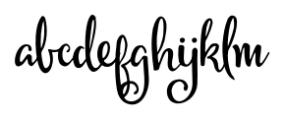 Michael Regular Font LOWERCASE