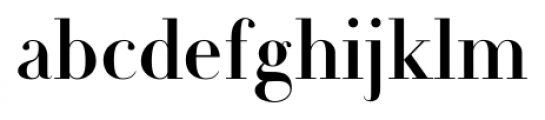 Michel Regular Font LOWERCASE