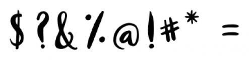 Milkmaid Regular Font OTHER CHARS
