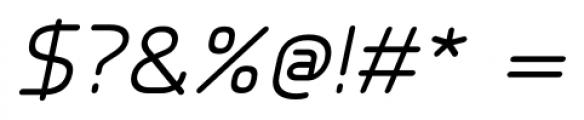 Millar Italic Font OTHER CHARS