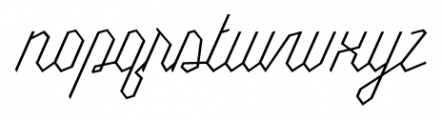 Millie Thin Font LOWERCASE