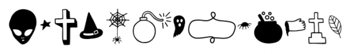 Mimbie Spooky Ornaments Font LOWERCASE