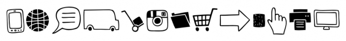 Mimbie Web  Social Media Icons Font UPPERCASE