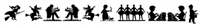 Mixed Silhouettes Regular Font OTHER CHARS