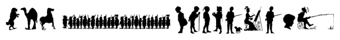 Mixed Silhouettes Regular Font UPPERCASE