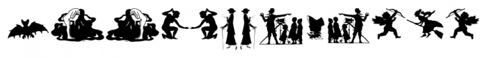 Mixed Silhouettes Regular Font LOWERCASE