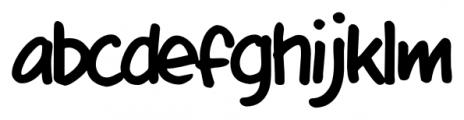 mixtapeMike Regular Font LOWERCASE
