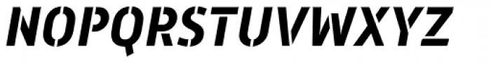 Mic 32 New Stencil Bold Italic Font UPPERCASE