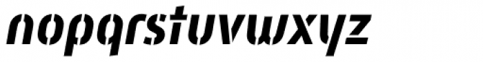 Mic 32 New Stencil Bold Italic Font LOWERCASE