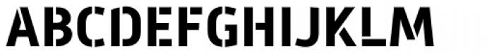 Mic 32 New Stencil Bold Font UPPERCASE