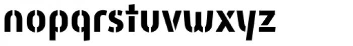 Mic 32 New Stencil Bold Font LOWERCASE