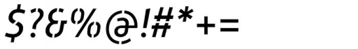 Mic 32 New Stencil Italic Font OTHER CHARS