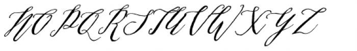 Michaela Script Regular Font UPPERCASE