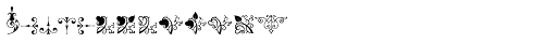 Micro Fleurons Fifteen Font UPPERCASE