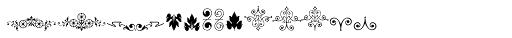Micro Fleurons Fourteen Font UPPERCASE