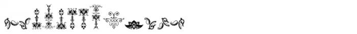 Micro Fleurons Fourteen Font LOWERCASE