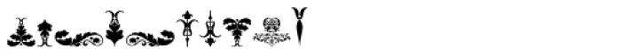 Micro Fleurons Seventeen Font OTHER CHARS