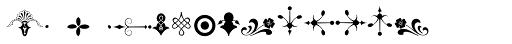 Micro Fleurons Seventeen Font UPPERCASE