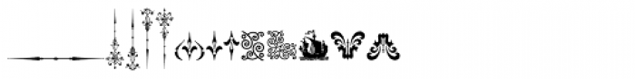 Micro Fleurons Sixteen Font LOWERCASE