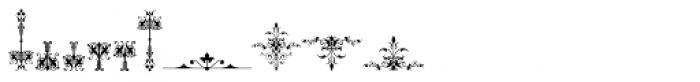 Micro Fleurons Thirteen Font OTHER CHARS