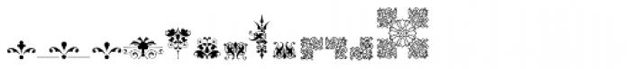 Micro Fleurons Thirteen Font UPPERCASE