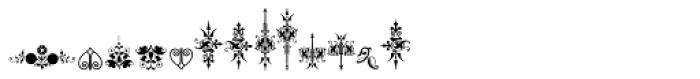 Micro Fleurons Thirteen Font LOWERCASE