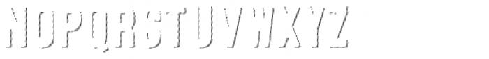 Microbrew Soft One Hatch Shadow Font UPPERCASE