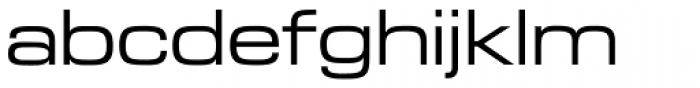 Microgramma EF Medium Extended Font LOWERCASE