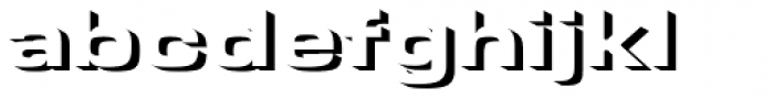 Microgramma Only Shadow D Bold Extended Font LOWERCASE