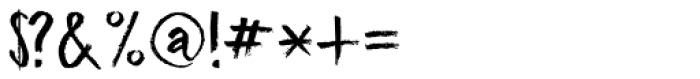 Midnight Chalker Regular Font OTHER CHARS