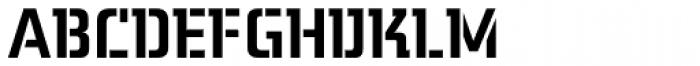 Midnight Kernboy Stencil Font UPPERCASE