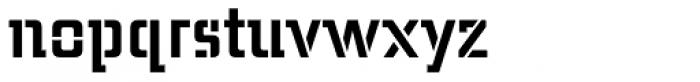Midnight Kernboy Stencil Font LOWERCASE