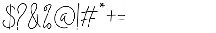 Midnight Signature Regular Font OTHER CHARS