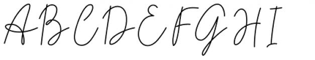 Midnight Signature Regular Font UPPERCASE