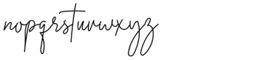 Midnight Signature Regular Font LOWERCASE
