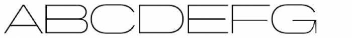 Miedinger Thin Font LOWERCASE