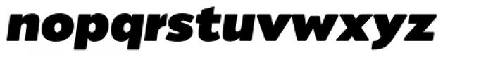 Migrena Grotesque Black italic Font LOWERCASE