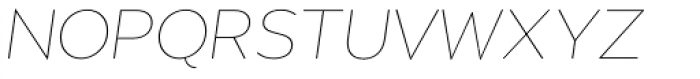 Migrena Grotesque Extra Light Italic Font UPPERCASE