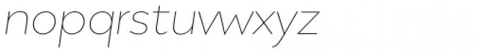 Migrena Grotesque Extra Light Italic Font LOWERCASE
