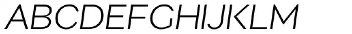 Migrena Grotesque Light Italic Font UPPERCASE