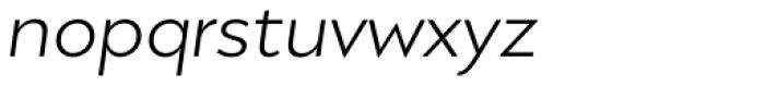 Migrena Grotesque Light Italic Font LOWERCASE