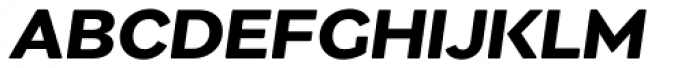 Migrena Grotesque Semibold Italic Font UPPERCASE