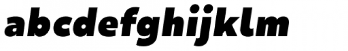 Mihaly Display Black Italic Font LOWERCASE