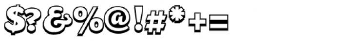 Mijas Ultra Shadow Font OTHER CHARS